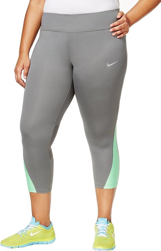 Womens Nike Essential power Running Crop leggings capri pant black plus size 1x