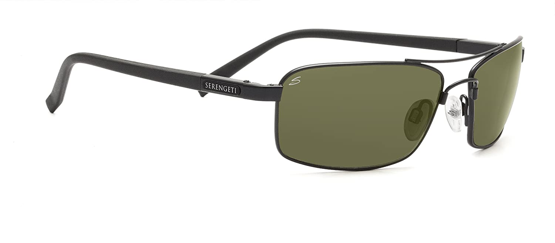 dc339a14b13e Serengeti Sunglasses Pareto Polar Lens PhD 555nm, Lens Category 2/3-Black:  Amazon.co.uk: Sports & Outdoors