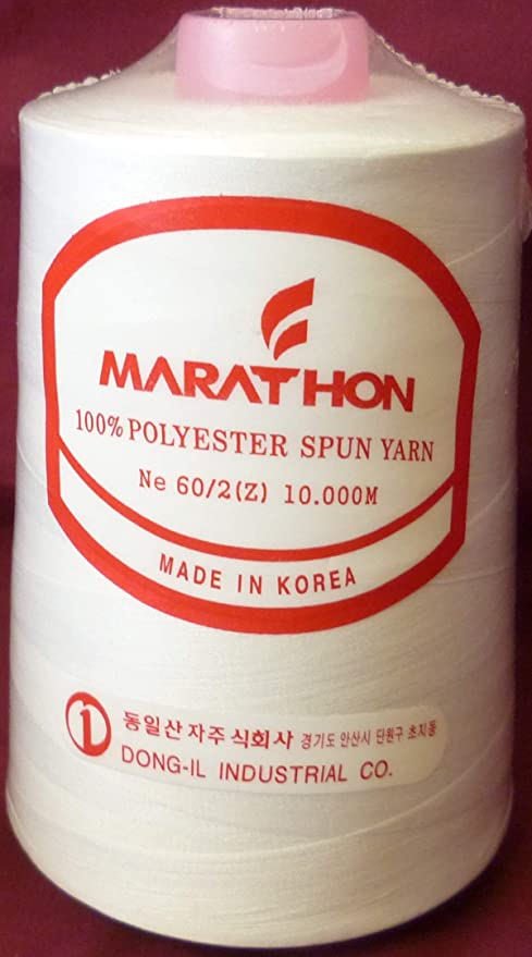 Marathon Embroidery Machine Bobbin Thread 10000m White 602 Brother