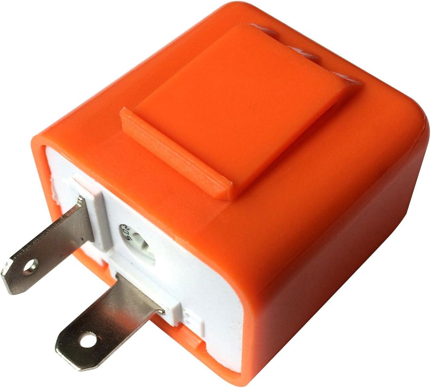 REFURBISHHOUSE 2 Broches Vitesse reglable LED Indicateur Resistance Relais Clignotant Reparer Flash Moto