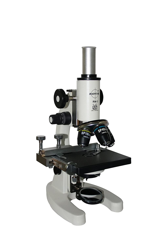 Radical 1500x Cordless LED Vet Medical Compound Microscope w Camera /& 100x Oil HLS EHS