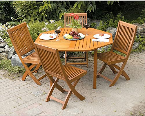 Achla Designs Eucalyptus Wood Indoor Outdoor Folding Chair