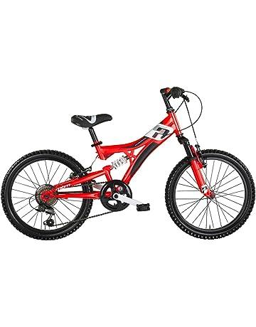 Bicicleta Mountain Bike para niños MBM Indy, cuadro de acero, doble suspensión, 6