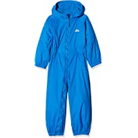 Metzuyan Children Boys Waterproof Hooded Puddlesuit All-in-One Snowsuit Skisuit Outfit for Outdoor Play
