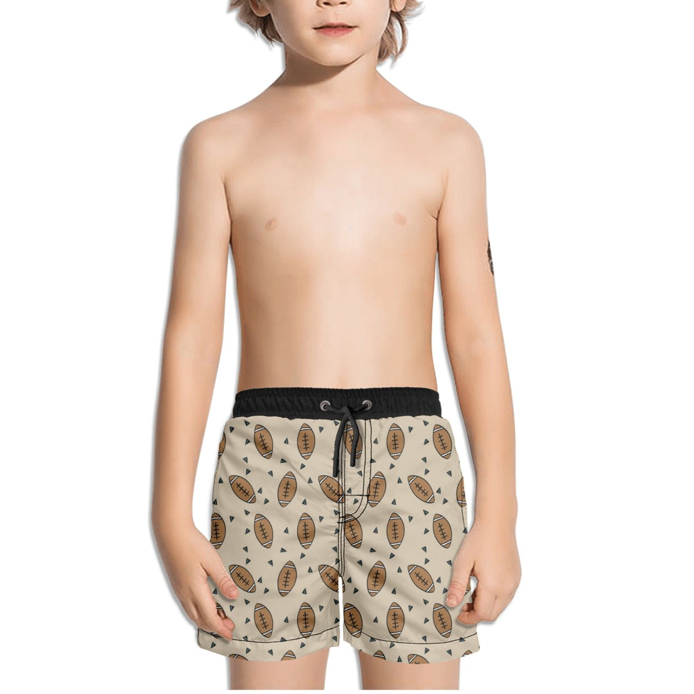 FullBo Love American Football Little Boy's Short Swim Trunks Quick Dry Beach Shorts