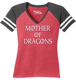 b1cb208c Comical Shirt Ladies Mother Dragons T Shirt Thrones TV Show Gamer Game  V-Neck Tee