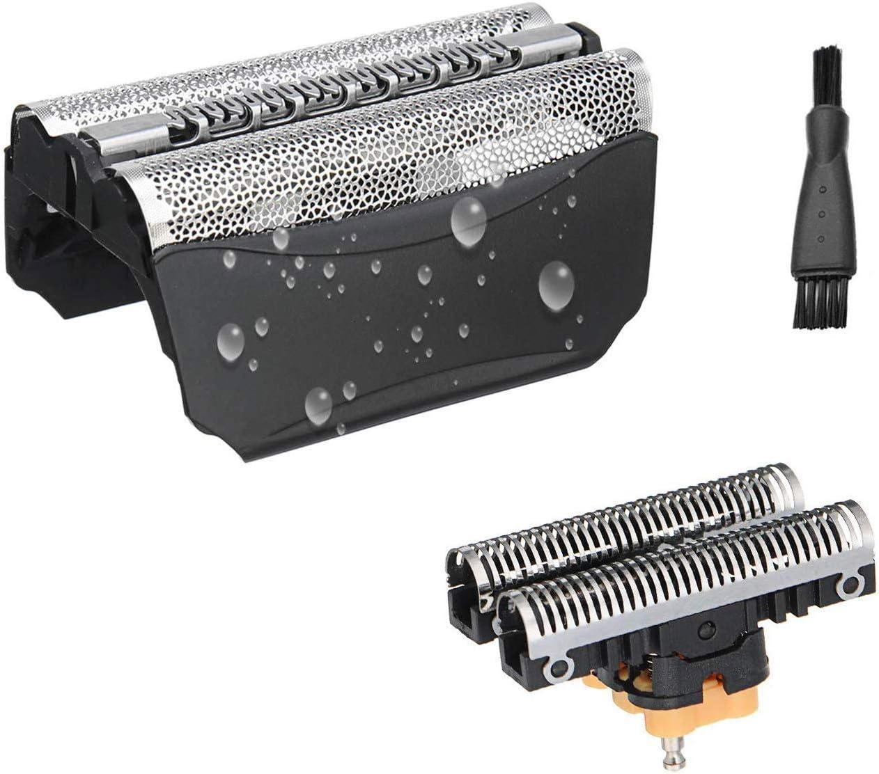 51B Cabezales de Afeitar para Bruan Serie 8000 WF1S WF2S Afeitadora Eléctrica Hombre, Lámina y Cortadora de Repuesto Poweka Compatible con el Modelo WaterFlex: Amazon.es: Salud y cuidado personal