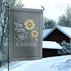 BABE MAPS Sunflower Polyester Garden Flags for Outside 28x40 Yard Flags Vertical Double Sided You are My Sunshine House Flags for Garden Home Outdoor Decor