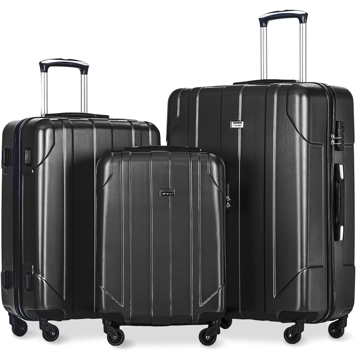 Merax 3 Piece P.E.T Luggage Set Eco-friendly Light Weight Spinner Suitcase by Merax