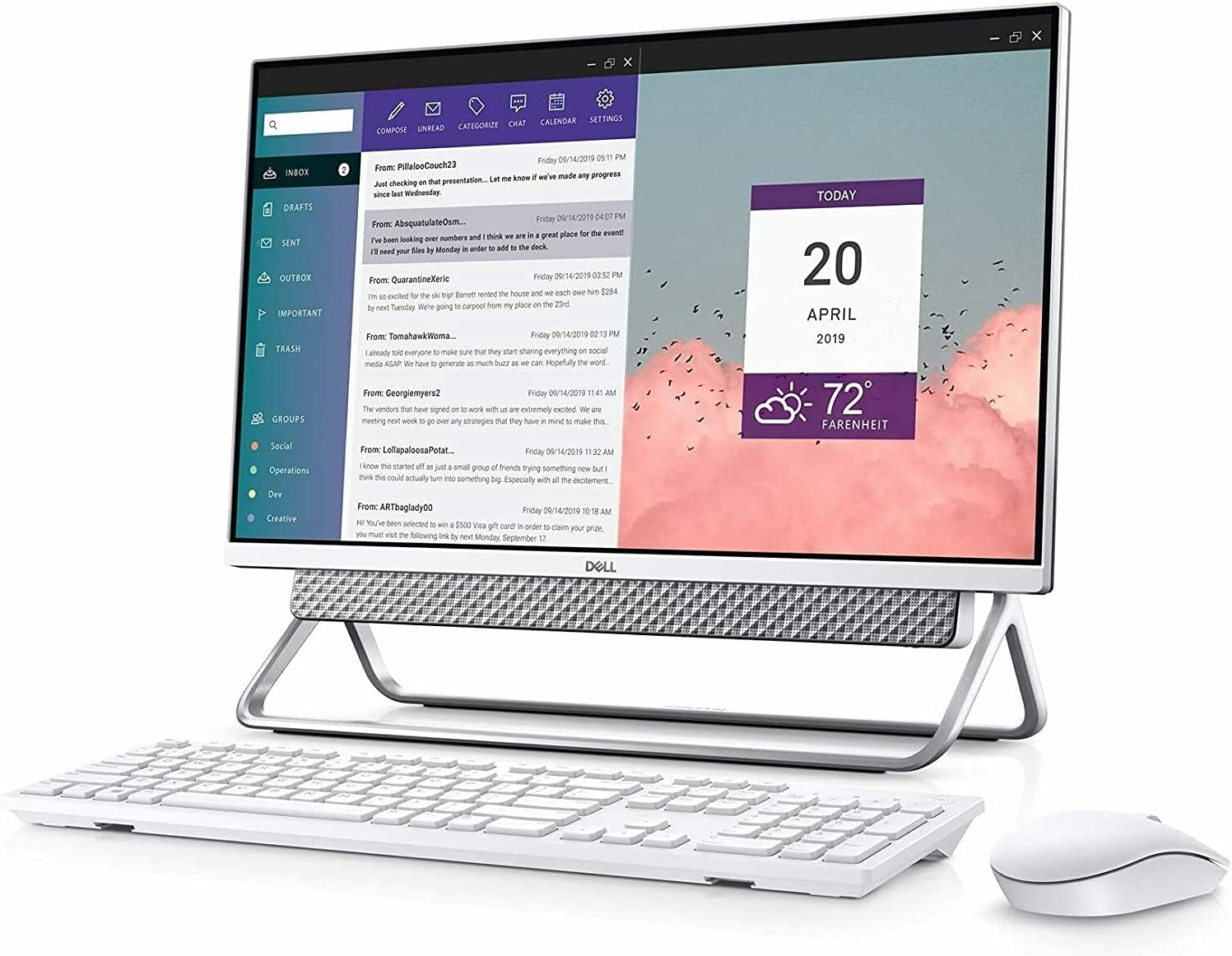 2021 Dell Flagship Inspiron 24 5400 All-In-One Desktop, 23.8
