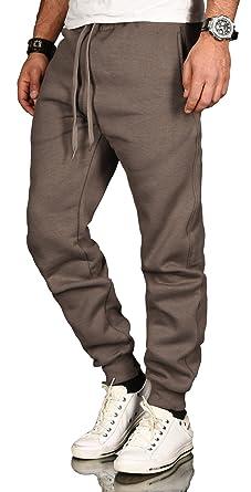 31670c4009e53c A. Salvarini Jogginghose Herren Jogger Trainingshose Freizeithose mit  elastischem Beinabschluss Sporthose AS070  Amazon.de  Bekleidung