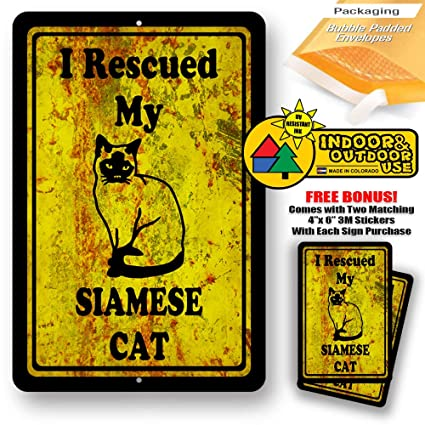 Tin SignTin wall ArtA House is not a Home without A Siamese Siamese Cat