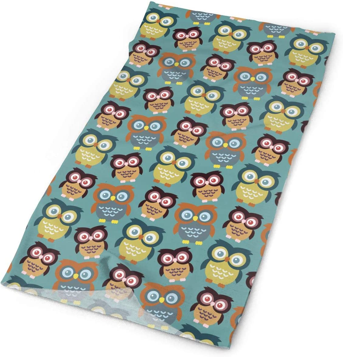 Cartoon Colorful Owl Unisex Fashion Quick-Drying Microfiber Headdress Outdoor Magic Scarf Neck Neck Scarf Hooded Scarf Super Soft Handle