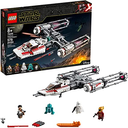 Amazon Com Lego Star Wars The Rise Of Skywalker Resistance Y Wing Starfighter 75249 New Advanced Collectible Starship Model Building Kit 578 Pieces Toys Games