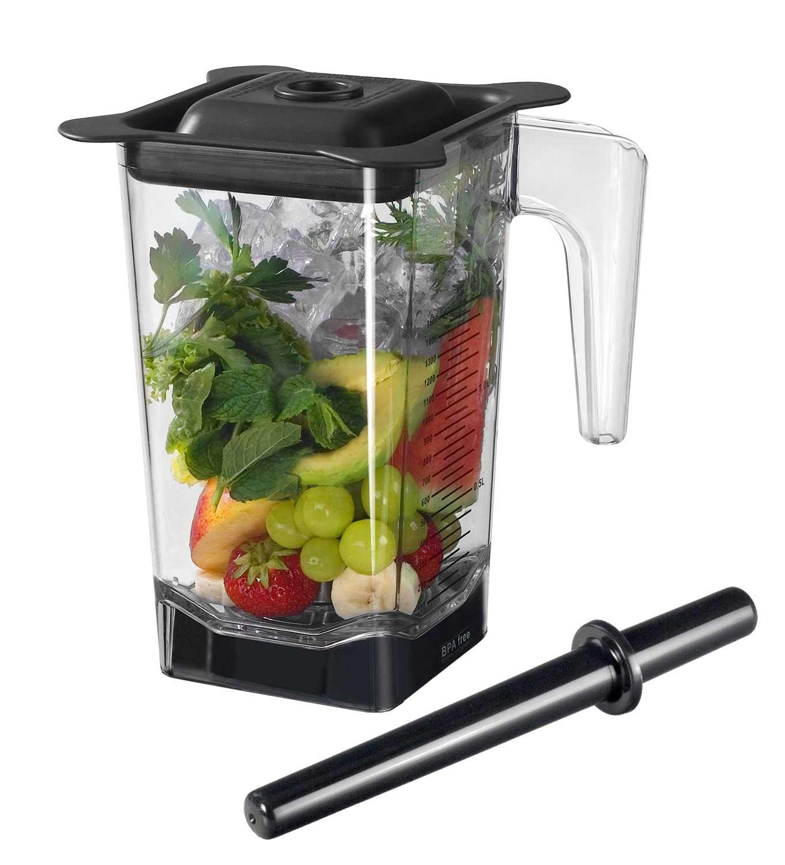 1,5 Liter Behälter / Ersatzbehälter für den Pofi YaYago Smoothie Maker Power Mixer Blender Icecrusher 1,5 l inkl. Schneidemesser, Stößel und Deckel / Omniblend V Behälter