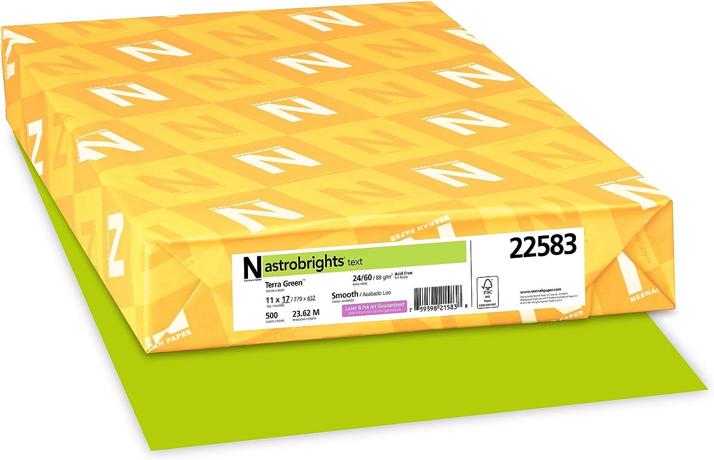 "- Amazon.com : Astrobrights Color Paper, 11"" X 17"", 24 Lb/89 GSM"