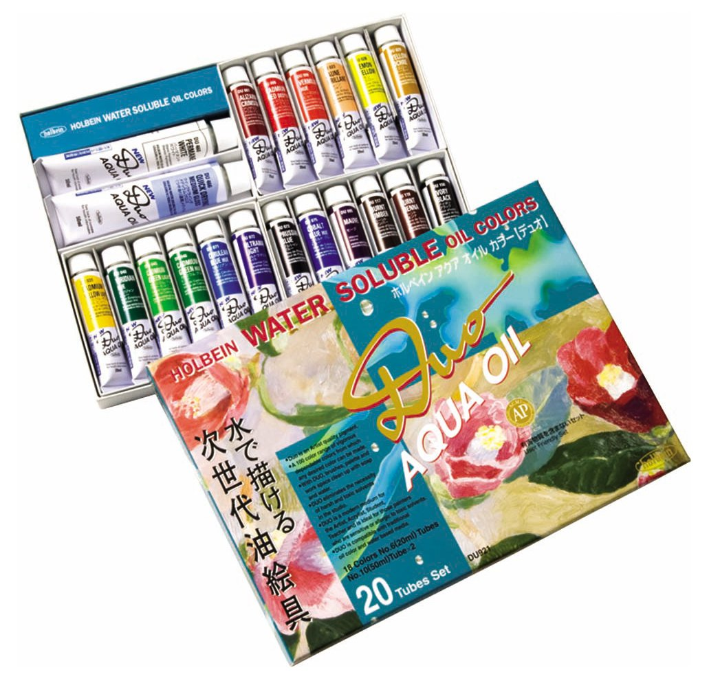 Holbein Duo Aqua Water-Soluble Oil Color Studio Set of 20 20 ml Tubes
