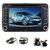 Universale 7 pollici touch screen di navigazione GPS Autoradio Dvd Video Player per per Volkswagen VW Jetta Golf Skoda Passat sedile Head Unit + Canbu + nuova Vinca 8 UI con LIBERO telecamera posteriore wireless