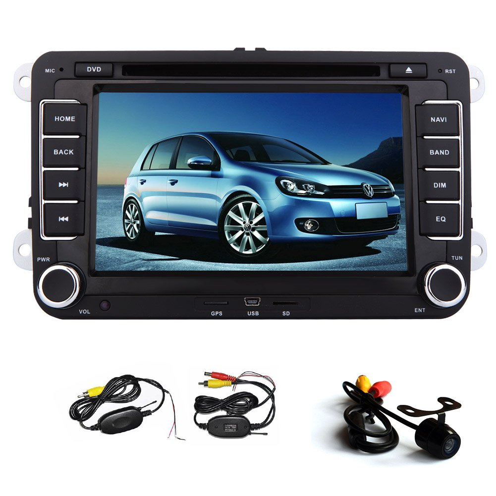 Universal 7 Inch Touch Screen Gps Navigation Car Radio Volkswagen Touran Exterior Light Control Wiring System Electronics
