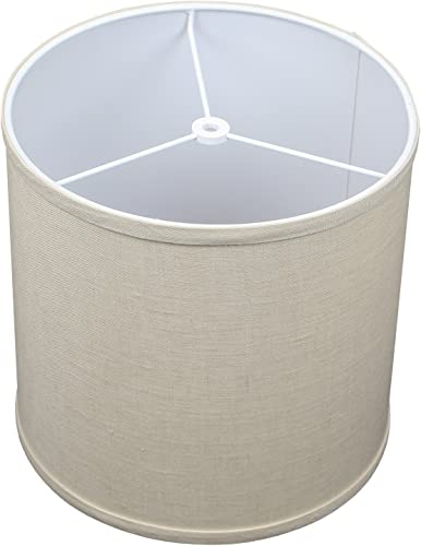 FenchelShades.com 10.5 Top Diameter x 10.5 Bottom Diameter 10.5 Height Cylinder Drum Lampshade USA Made Designer Natural