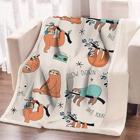 Yoga Sloth Blanket Sofa X-mas Gift Printed in US Fast Shipping Sloth Lover