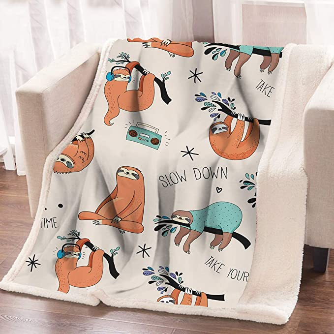 The Big One Oversized Sloth Super Soft Throw Blanket 5/' x6/'  Sloths