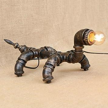 Amazon.com: Lámpara de mesa de tubo de agua, estilo vintage ...