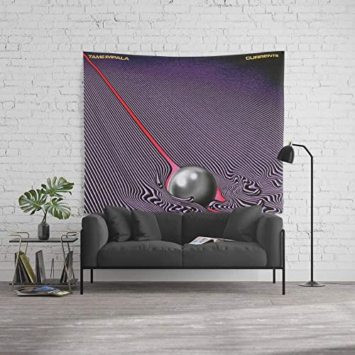 wenhuamucai Wall Tapestry, Size Large 60 x 51, Tame Impala – Currents Decor for Living Room Bedroom Dorm