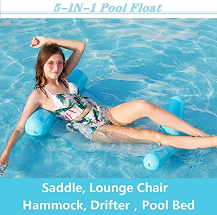 Saddle, Lounge Chair, Hammock, Drifter Inflatable Pool Floats,Toys for Adults /& Kids Adult Pool raft,Multi-Purpose Pool Pool Float Chair