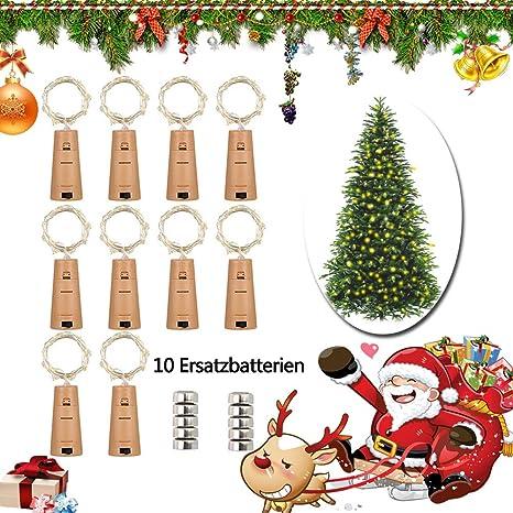 LED cadena de luz Luz 20 LEDs 2 M alambre de cobre botellas vino botella luces