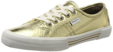 London, Sneakers Basses Femme, Argent (Chrome), 37 (EU)Pepe Jeans London