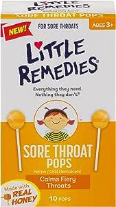Little Remedies Honey Pops Lollipop, Natural Honey, 10 Count