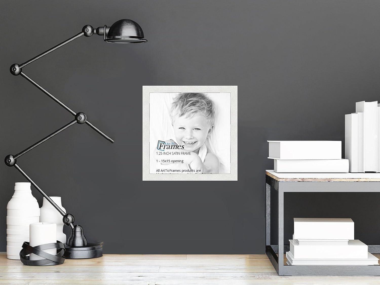 amazoncom arttoframes 15x15 inch satin white frame picture frame 2womfrbw26074 15x15 single frames