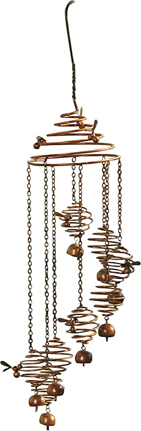 BEE SPIRAL YARD MOBILE GARDEN DECOR by Ancient Graffiti AG-87094