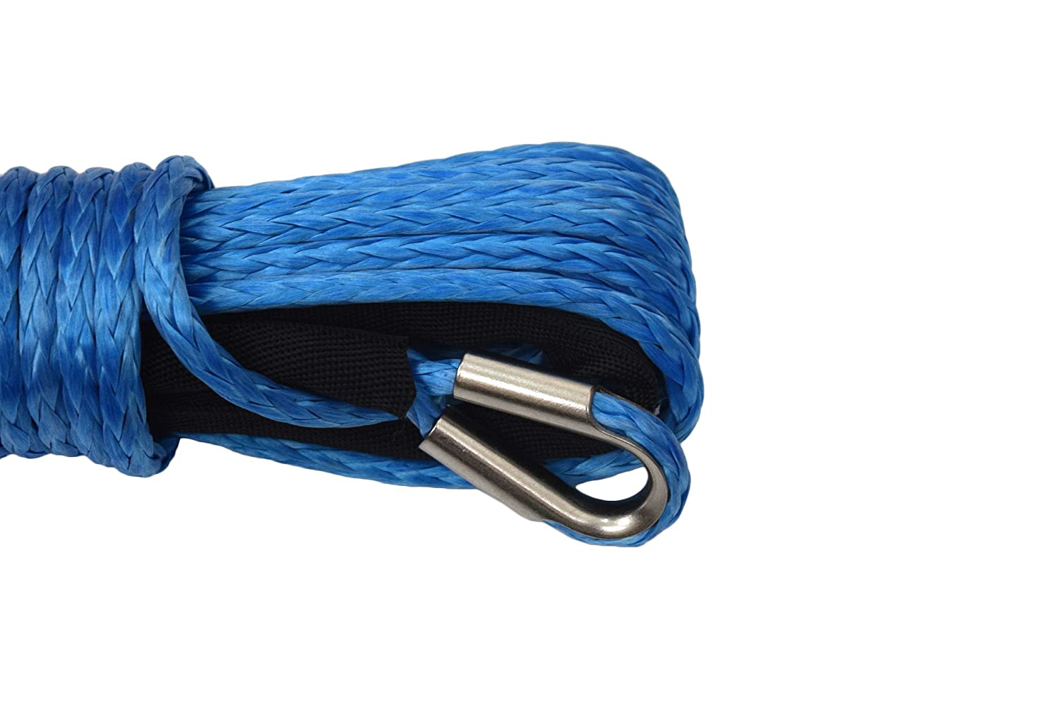 5//16 /×50ft Synthetic Winch Rope,4x4 ATV Winch Cable,UHMWPE Winch Rope for Offroad Parts Blue