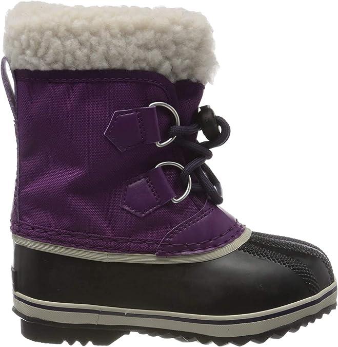 Sorel Unisex Kid's CHILDRENS YOOT PAC NYLON Snow Boot, Wild Iris, Dark Plum, 11 UK Child 29 EU,Sorel,1855212594