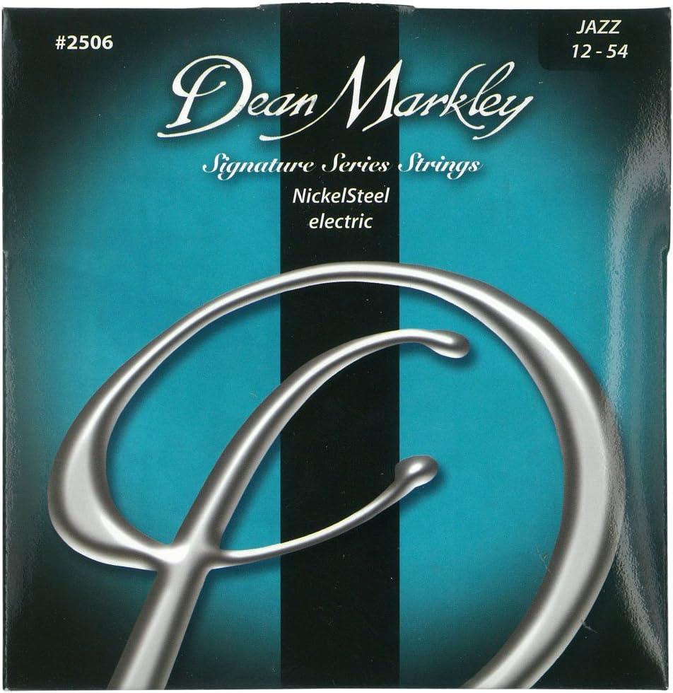 Dean Markley 2506B - Juego de cuerdas para guitarra eléctrica de acero de níquel, 12-54