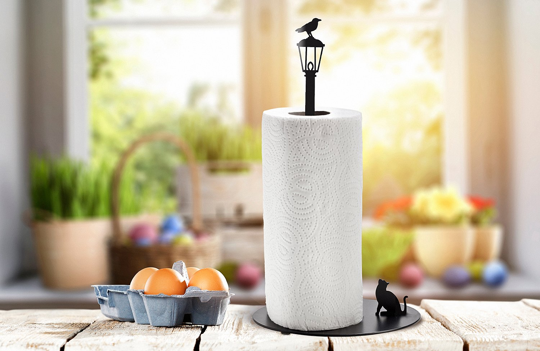 Amazon.com: ARTORI Design Cat Vs. Crow - Kitchen paper towel holder ...