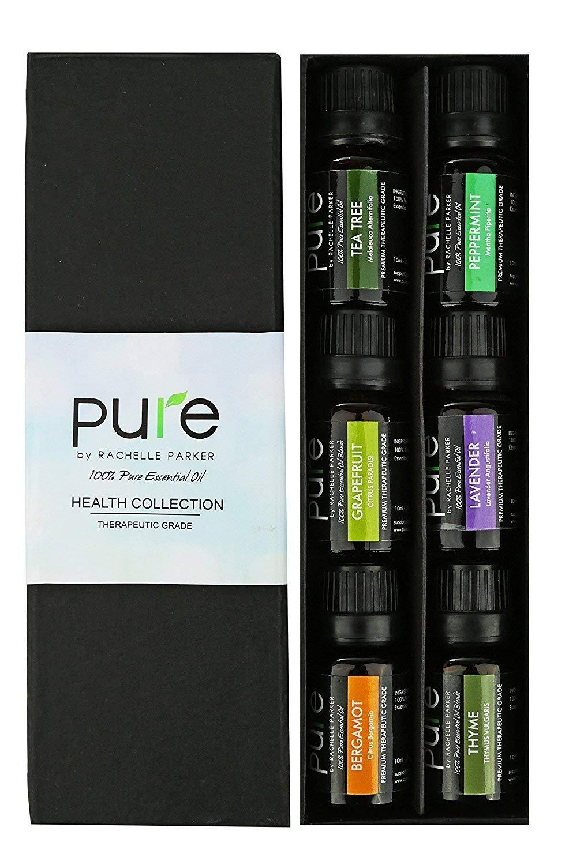 Natural Healing Essential Oil Set. Best Aromatherapy Essential Oils Set for Health, Immunity, etc. Essential Oil Kit- Lavender Essential Oil, Grapefruit Oil, Peppermint, Tea Tree, Thyme & Bergamot Oil