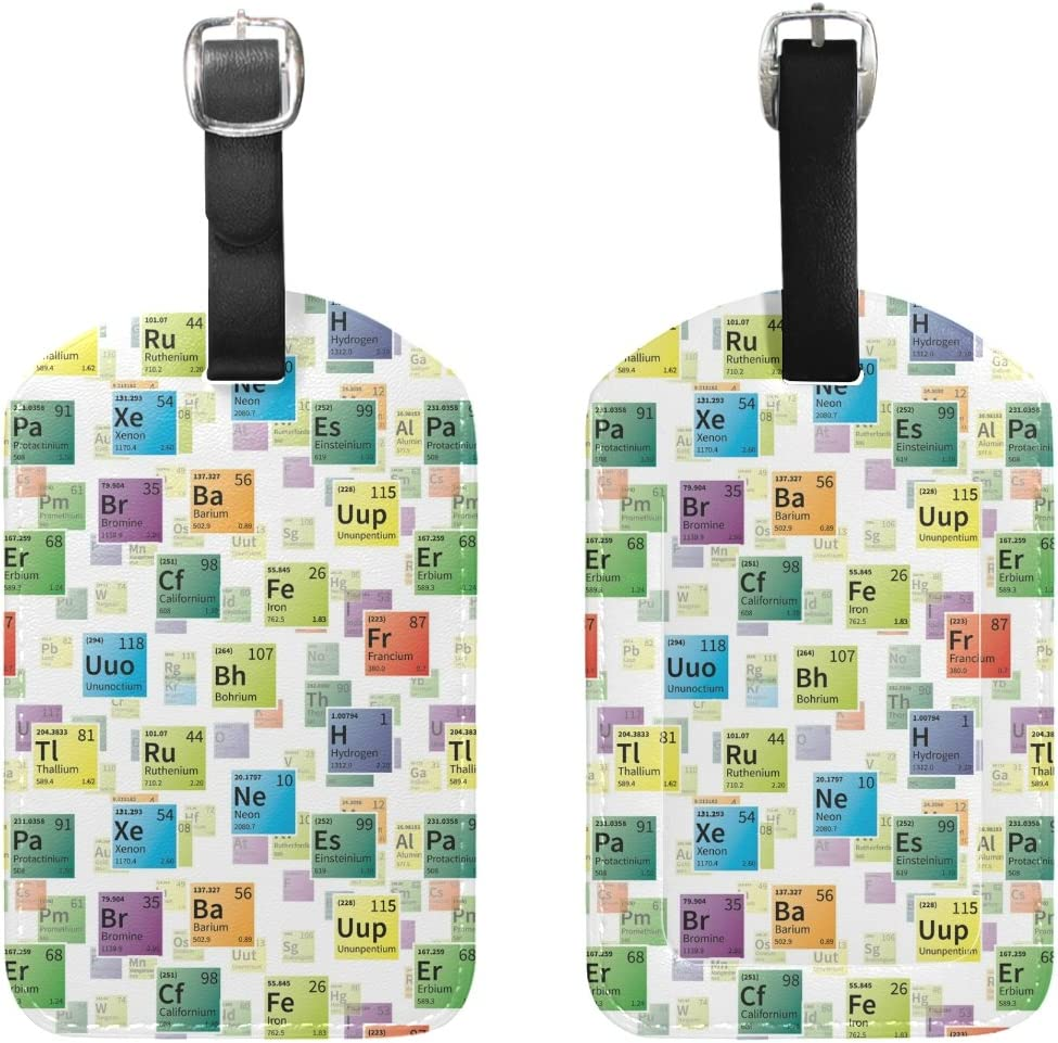 Elements Periodic Handbag Tag For Suitcase Bag Accessories 2 Pack Luggage Tags