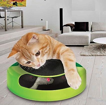 WXH Mascotas Gato Interactivo Juguetes-Gato Catching Mouse Felpa Deportes persecución Juguetes-Garra Cuidado