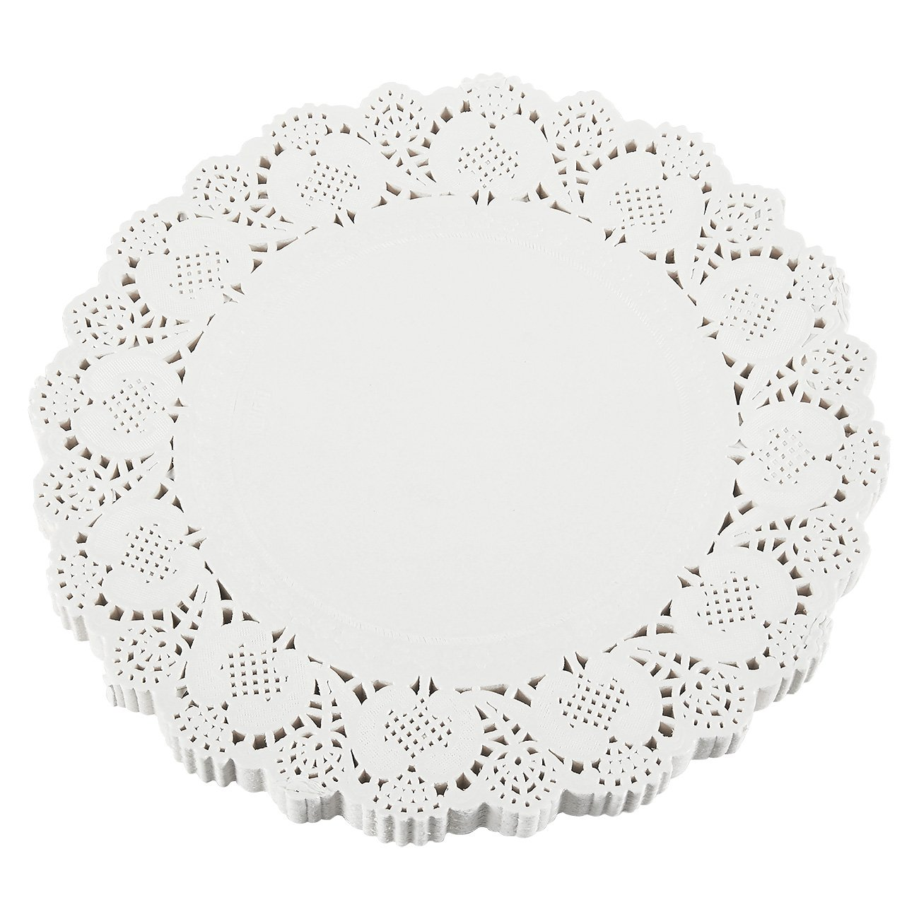 Paper Doilies – 250-Pack Round Lace Placemats for Cakes, Desserts, Baked Treat Display, Ideal for Weddings, Formal Event Decoration, Tableware Decor, White - 12 Inches in Diameter