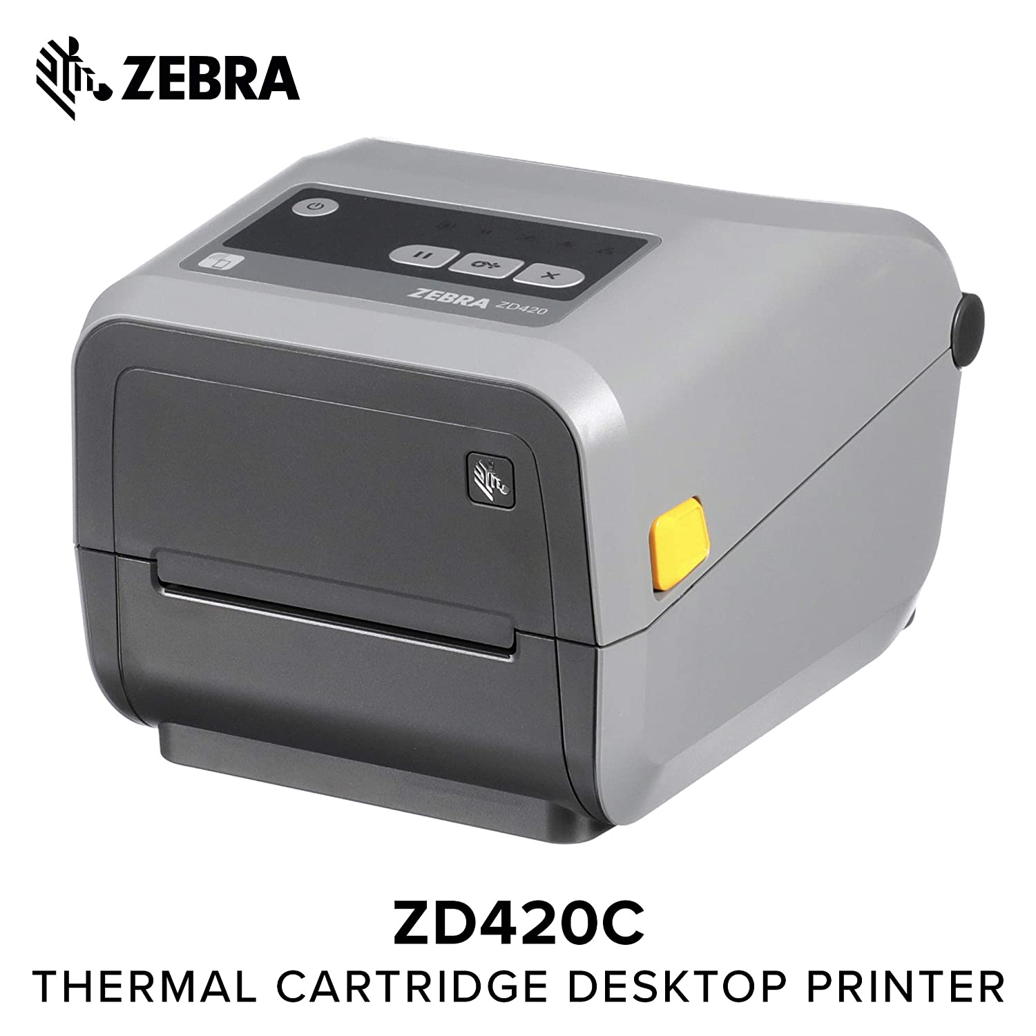 Zebra - ZD420c Ribbon Cartridge Desktop Printer for Labels and Barcodes - Print Width 4 in - 300 dpi - Interface: Bluetooth LE, USB - ZD42043-C01M00EZ