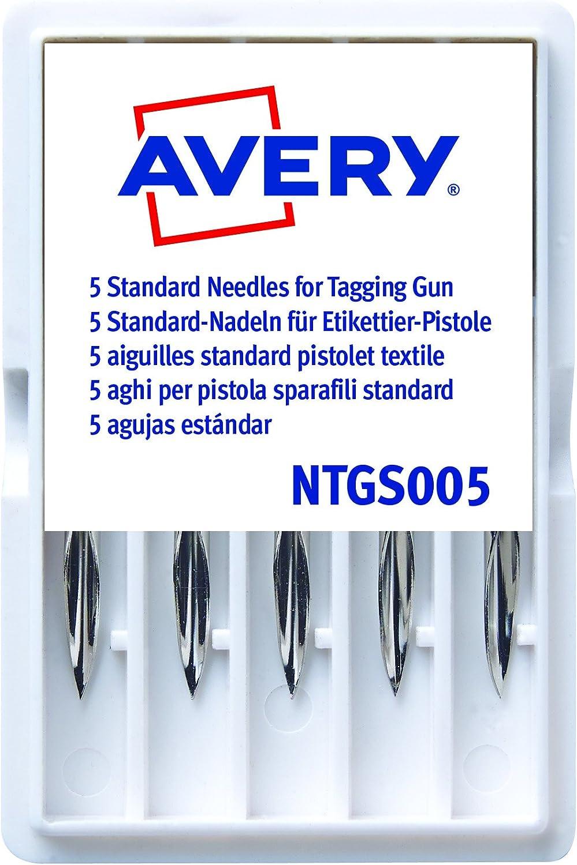 Avery España NTGS005 - Pack de 5 agujas estándar para la pistola etiquetadora Avery: Amazon.es: Oficina y papelería