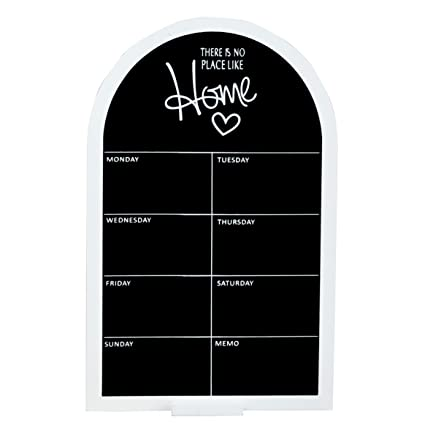 Homescapes Weekly Planner Blackboard Home & Kitchen Hanging Kitchen Message Board with Mini Chalkboards Memo Boards