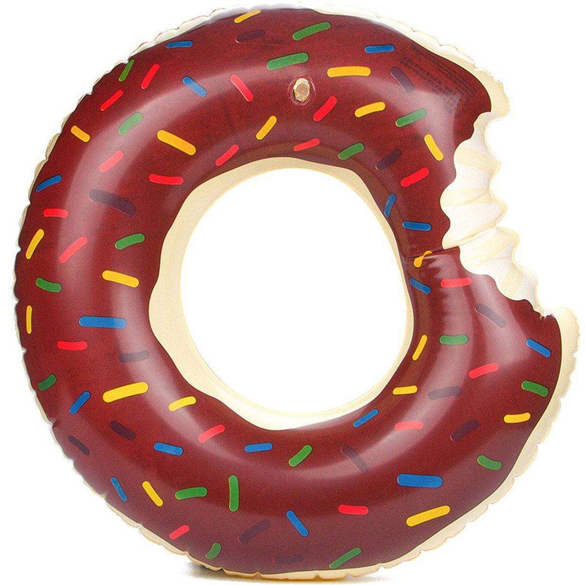Schwimmen Ring Sommer Krapfen Entwurfs Art Schwimmen Ringe 60 ~ 120cm Grö ß e Wasser-Pool-Spaß -Schwimmer-Spielwaren Aufblasbares fü r Erwachsene und Kinder Aufblasbares Schwimmen-Ring-Strand oder Pool-Schwimmen-Spielzeug (60cm, Pink)