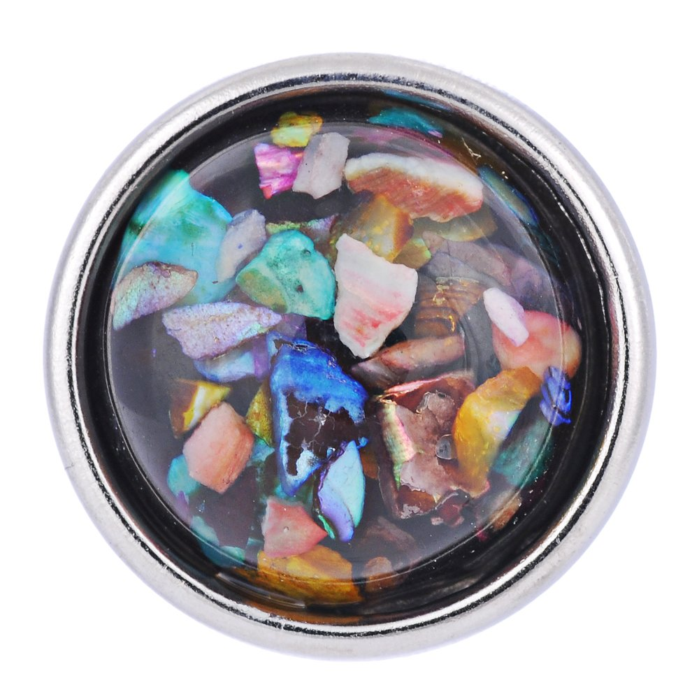 Vocheng Snap Jewelry Small 12mm 7 Colors Resin Snap Charms Vn-511 Pack of 2pcs