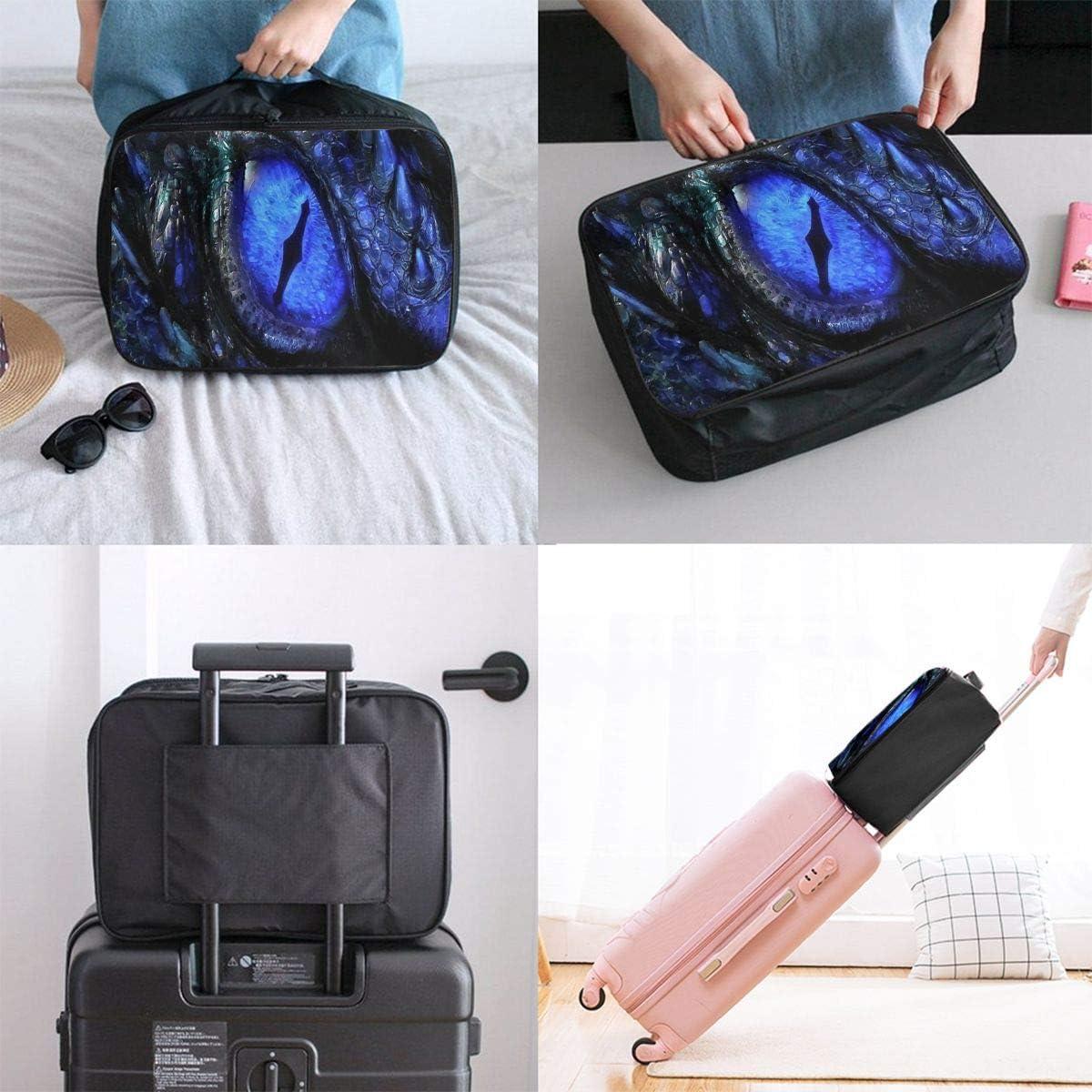 Travel Bags Dragon Eye Wallpaper Portable Suitcase Fabulous Trolley Handle Luggage Bag