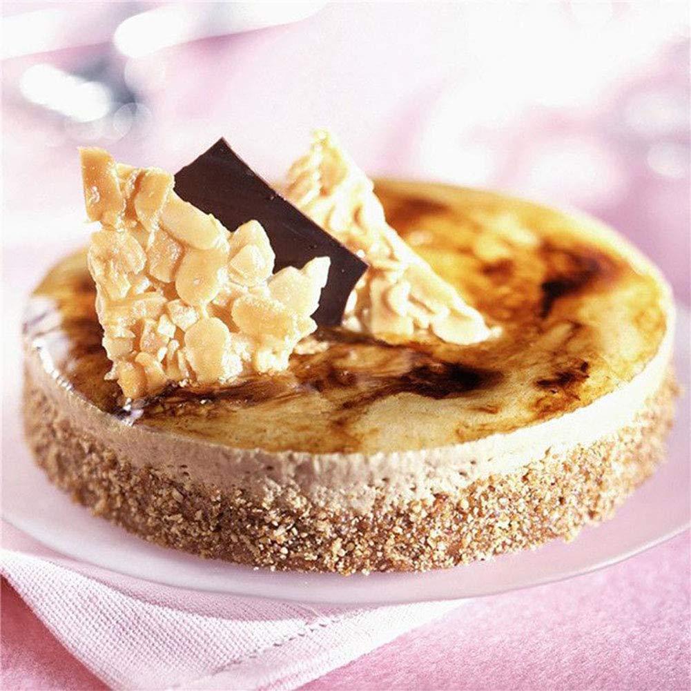 LanLan Molde de Pastel de Cocina, Herramienta de pastelería de Bricolaje para Hornear Discos de Silicona de 3 cavidades para Tarta de Pastel de Chocolate ...