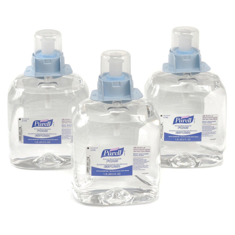 Purell 5192-03, Instant Hand Sanitizer Foam Refill, 3 Refills/Case